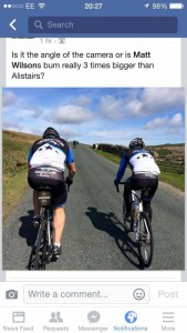 Matt Wilson and Alistair Cook, Etape du Dales