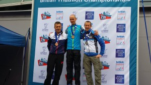 Tim Ashelford - on the podium again! 2nd in age group, Liverpool Triathlon